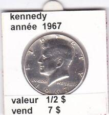 e2 )pieces de 1/2 dollar kennedy 1967