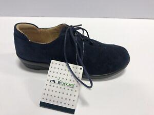 Spring Step Flexus, Navy Blue Suede, Lace Up Shoes, EUR37 Women's Size 6.5-7M