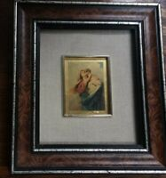 Vtg 24k Gold Baby Jesus & Mary Icon Wall Plaque