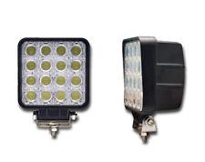 2 x 12V 24V SQUARE HIGH POWER LED WORK LAMP FLOOD LIGHT TRUCK 4x4 PICKUP OFFROAD