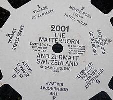 Vtg Sawyers Viewmaster 1948 Matterhorn & Zermatt Switzerland  # 2001 1940s -RM+