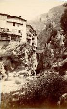 France Isère Pont-en-Royans Une Maison Suspendue vintage print Tirage albuminé