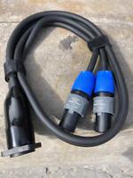 NUETRIK Speaker Speakon Y Cable (1) NL4MP Split to (2)NL2FX 2 Pole 2 Cond.