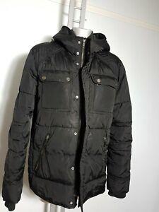 H&M HOOD SIZE XL 44 R MENS WINTER BLACK PARKA OUTERCOAT COAT JACKET
