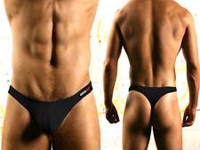 Men's cotton underwear sexy low-cut U convex men's thong Black XL