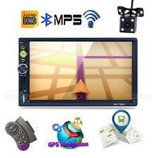 """7"""" Doppel 2Din Autoradio Touchscreen RDS Bluetooth GPS Navi Mit Rückfahrkamera"""