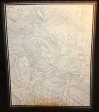 Spider-Man vs. Vencom Action Pencil Commission - LA - art by Steven Butler Comic Art