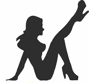 Sexy Lady Silhouette Pole Dancer Laptop Vinyl Car Camper truck Sticker SM168