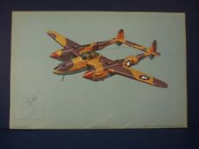 Lockheed P-38 Lightning WWII Airplane Print by Harry Jaffee, Rudolf Lesch N.Y.