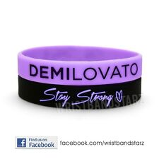 2 STAY STRONG DEMI LOVATO WRISTBANDS BRACELET HEART THIN