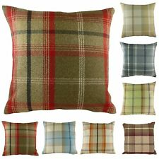 "Luxury Highland Mist Tartan Check Cushion Covers, 16"" x 16"", 9 Colours !!!"