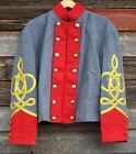 civil war confederate reenactor artillery shell jacket with 4 row braids 44