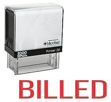 BILLED Office Self Inking Rubber Stamp - Red Ink (E-5233)
