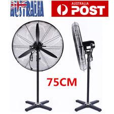 75cm Industrial Metal Pedestal Fan Oscillating 3 Speed High Velocity 250W AU