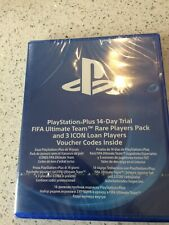 PS4 GAME - PLAYSTATION PLUS 14 DAY TRIAL - FIFA ULTIMATE TEAM -  NEW SEALED -