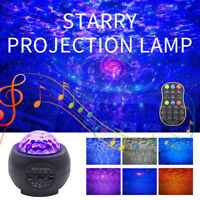 USB Blueteeth Projector Light LED Galaxy Starry Night Lamp Star Projection Xmas
