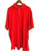 Polo Ralph Lauren Mens Red Short Sleeve Polo Casual Shirt 1XB Big Golf