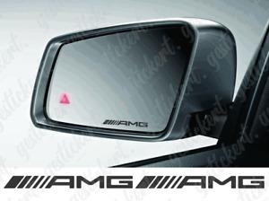 2x AMG Spiegel Aufkleber Sticker Decal Tuning Mercedes Benz Auto