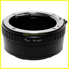 Adapter per obiettivi Pentax K su corpi Sony E-Mount - Nex con ghiera diaframmi