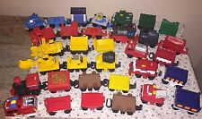Lot Of 33 Fisher Price Geo Trax Train Cars Mix 2003/2004 Mattel
