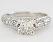1.21 ct 18K White Gold Princess Cut Diamond Engagement Ring EGL-USA