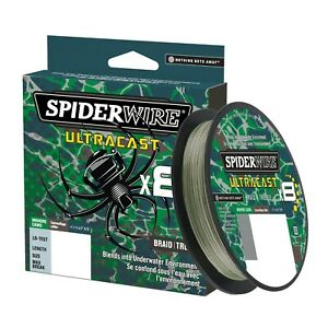 SPIDERWIRE Ultracast Braid-2187 Yards-Green Camo-Pick Line Class Free FAST Ship