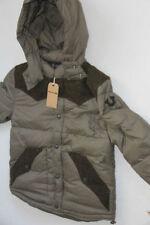 TRUE RELIGION BRAND Down Olive Down Contrast Puffer Jacket Coat Hoodie L Slim