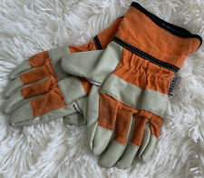 Child Kids Boys BRIERS Gardening Outdoor Leather Gloves. Good Condition. 6-8 Yrs