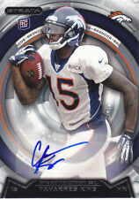 2012 Strata Auto #68 Tavarres King RC Broncos mint from pack
