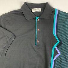 VTG 90s St Croix Banded Bottom Waist Golf Polo Shirt Mens Medium Stripes USA