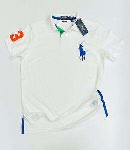 Ralph Lauren Men's Custom Fit  Polo       T-Shirt White    (RRP £89.99)