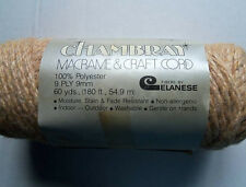 Chambray Macrame & Craft Cord  9 Ply, 9mm  60 Yards  Color Camel
