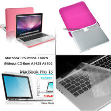 Matte Case+Sleeve Bag+Keyboard Cover+Screen Protector for Macbook Pro Retina 13'