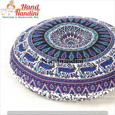 Indian Bohemian Home Decor Bolster Cushion Pouf Cover Yoga Sitting Floor Pillow