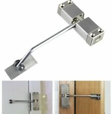 1x Automatic Mounted Spring Door Closer Stainless Steel Adjustable Surface UK