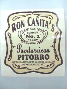 PUERTO RICO BORICUA RON CANITA PUERTORRICAN PITORRO DECAL STICKER