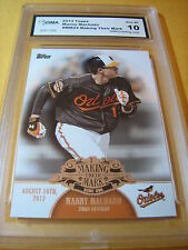 MANNY MACHADO ORIOLES  2013 TOPPS MAKING THEIR MARK # MM-24 GRADED 10