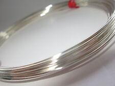 Plata Esterlina 925 Square Wire 21 Calibre,72 mm duro media 1 Oz
