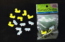 BABY BATHTIME EYELET OUTLET BABY TUB TIME BATH BRADS - 12 PIECES. - APPROX 16mm