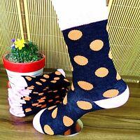 1Pairs Mens Socks Cotton Casual Dress Polka Dots Socks 19*18cm CH06