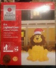 Home Accents Holiday 6 ft Lighted Lion Inflatable Fuzzy Feel NIB Christmas