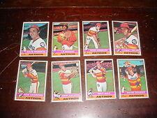 Houston Astros 1976 Topps Baseball 28 cards Bob Watson Larry Dierker JR Richard