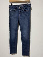 American Eagle Women's Skinny Fit Stretch Denim Jeans Dark Blue Wash US4 UK6