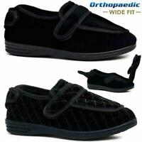 EXTRA WIDE FITTING DIABETIC ORTHOPAEDIC COMFORT SLIPPERS SHOES RIP OPEN WMS 4-8
