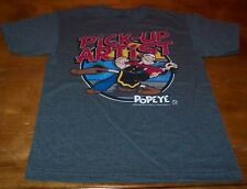VINTAGE STYLE Popeye The Sailor Man PICK-UP ARTIST T-Shirt SMALL NEW Olive Oil