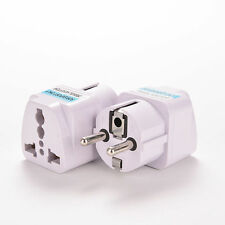 Portable Travel Adapter Plug (3 pin to 2 pin) UK US AU to EU European Fast Speed