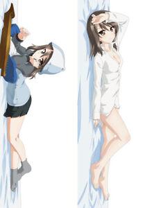 GIRLS und PANZER Nishizumi Miho Dakimakura Hugging Body Pillow Case Cover 59''