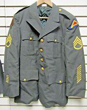 Vintage Vietnam Era US Army Poly/Wool Dress Green Uniform Coat w/Patches 41S