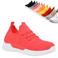 Damen Sportschuhe Laufschuhe Strick Fitness Sneaker Freizeitschuhe 833524 Trendy