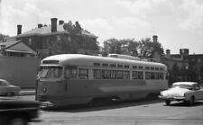 ORIGINAL 1960 CAPITAL TRANSIT DCT TROLLEY STREETCAR NEGATIVE #1478 WASHINGTON DC